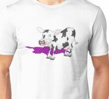Cow Casting a Pink Shadow Unisex T-Shirt