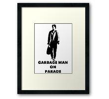 Garbage Man On Parade Framed Print