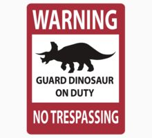 No Trespassing Sign (Triceratops) Kids Tee