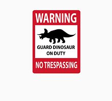 No Trespassing Sign (Triceratops) Unisex T-Shirt