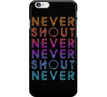 Never Shout Never - Colours iPhone Case/Skin