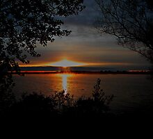 Sunrise On Manistee Lake by Shelly Harris