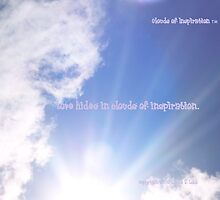 Love is written in the clouds. by Linda Lobb