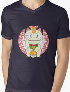 Maneki meowth Mens V-Neck T-Shirt