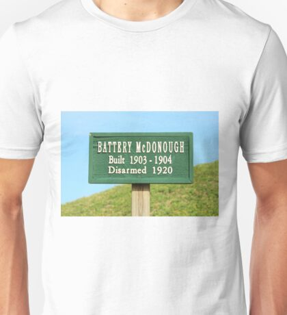 Fort Caswell Sign Unisex T-Shirt