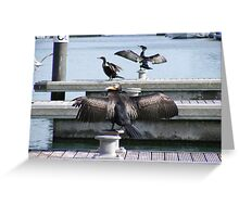 One  wing and a prayer Greeting Card