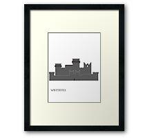 Winterfell minimalism Game of Thrones Framed Print