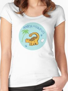 Cute Ankylosaurus Women's Fitted Scoop T-Shirt