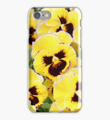 Yellow And Brown Flowers iPhone Case/Skin