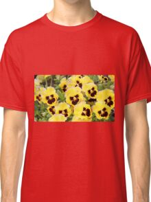 Yellow And Brown Flowers Classic T-Shirt