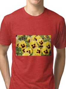 Yellow And Brown Flowers Tri-blend T-Shirt