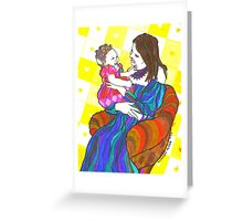 Happy Mother and child  Greeting Card