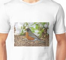 Robin Among The Flowers Unisex T-Shirt
