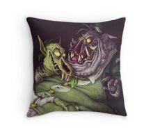 Monster Men Throw Pillow