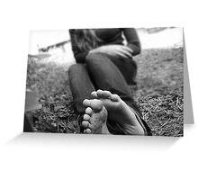 Girls feet Greeting Card