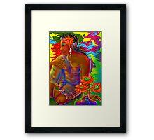 'Tahitian Flowers' or Gauguin Gone Woodstock Framed Print