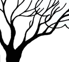 Simple Tree and Cloud Drawing Sticker