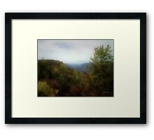 Misty Morn in the Mountains Framed Print