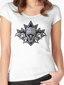 NSL Dino Silver Leaf Women's Fitted Scoop T-Shirt