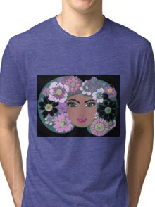 She wore flowers Tri-blend T-Shirt
