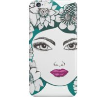 she wore flowers in her hair iPhone Case/Skin