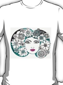 she wore flowers in her hair T-Shirt