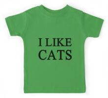 I Like Cats Kids Tee