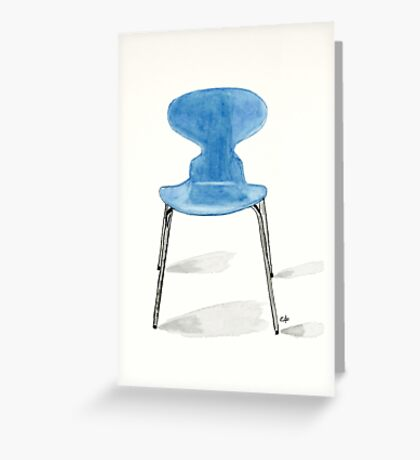 Ant Chair - Watercolor Painting Greeting Card