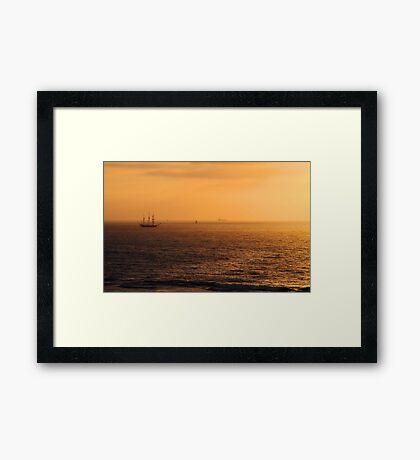 Tall Ship Leeuwin II - Western Australia  Framed Print