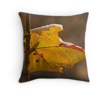 Hanging on for dear leaf Throw Pillow
