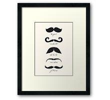Monsieur Moustache Framed Print