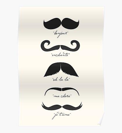 Monsieur Moustache Poster
