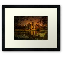 Textured Chateau, Haute Vienne, France Framed Print