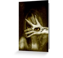 With Not Though the Eye. Greeting Card