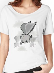flying Elephants Women's Relaxed Fit T-Shirt