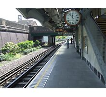 The Train Arriving at Platform One.... Photographic Print