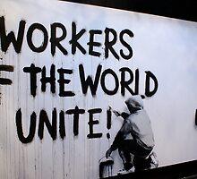Banksy - Workers Unite by Kiwikiwi