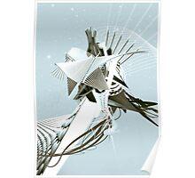 Futuristic Architectural Landscape Poster