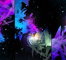 Space Worms Triptych by bechira