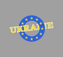 State flag of Ukraine merged with Flag of the E.U. by piedaydesigns