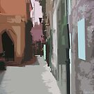 Abstracrt Sorrento Alley by longaray2