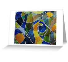 Watercolor Pen and Ink Abstract Greeting Card