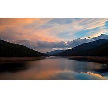 Sunset on a Dam Photographic Print