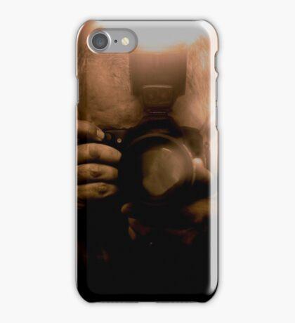 Photographer Capturing Light in Sepia Tones iPhone Case/Skin