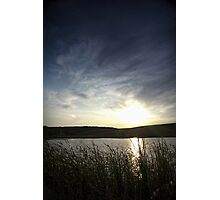 Sunset on the lake Photographic Print