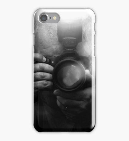 Photographer Capturing Light in B&W iPhone Case/Skin