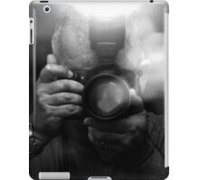 Photographer Capturing Light in B&W iPad Case/Skin