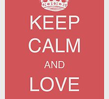 Keep calm and love birds - Old red by Atelier-mediA