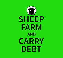 Sheep Farm and carry Debt by piedaydesigns
