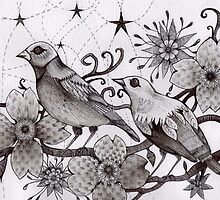 moonlight birds by melaniedann